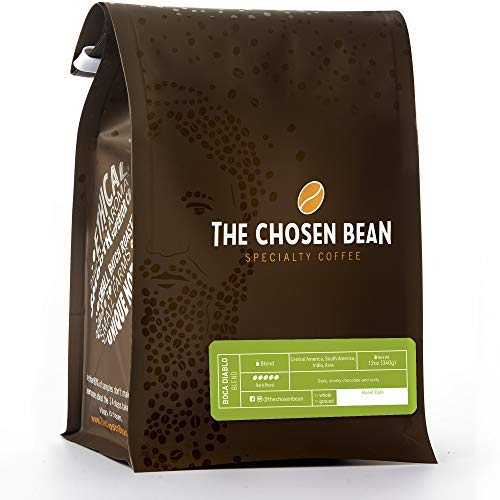 The Chosen Bean Diablo French Roast Whole Bean Extra Dark Coffee with Smooth Flavor, Small Batch Roasted, Organic and Fair Trade, 12 oz