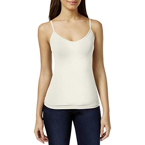 Energie Womens Juniors Rose V-Neck Seamless Camisole Ivory XXL