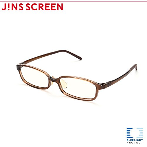 【JINS SCREEN クリアレンズ】スクエア (BROWN)  BROWN B00LX4C73K
