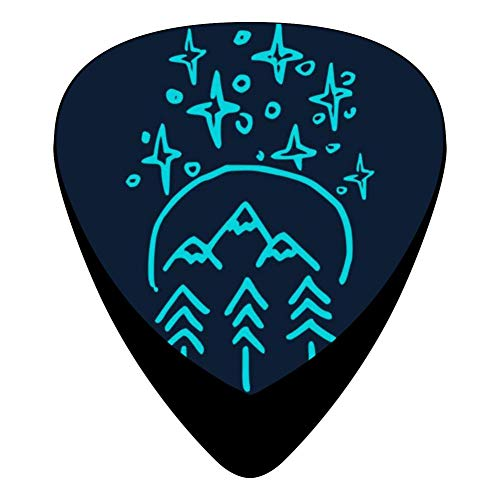 Forest And Mountains 351 Shape Medium Classic Celluloid Picks, 12-Pack, For Electric Guitar, Acoustic Guitar, Mandolin, And Bass