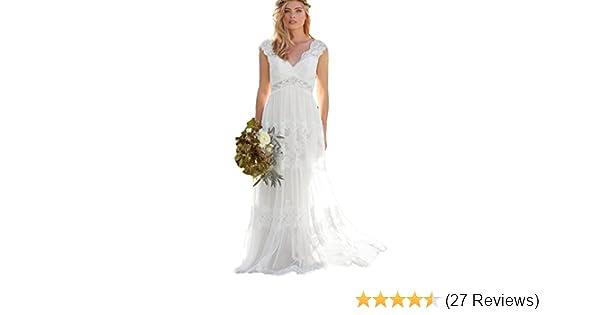 fb1557c730c5e5 Dressesonline Women s Bohemian Wedding Dresses Lace Bridal Gown Backless  Vestido De Noivas at Amazon Women s Clothing store