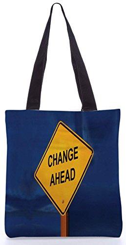 Snoogg ändern Ahead13.5 x 15 Zoll-Shopping-Dienstprogramm-Einkaufstasche aus Polyester-Segeltuch gemacht