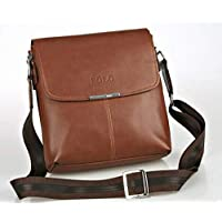 FANKE Polo BY-24 Business Style for Messenger Bag Briefcase for Men - Leather, Brown