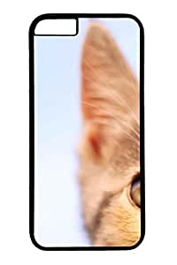 Cat Kiss Fish Pattern Litchi Texture Plastic Hard Case for iPhone 6