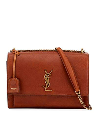 dd99e10ec73 Saint Laurent Sunset Monogram YSL Large Chain Crossbody Bag made in Italy:  Handbags: Amazon.com