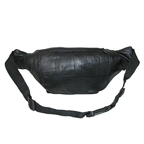 Zipper Black Waist Bum Bag Fanny Pack Travel Pocket - 5