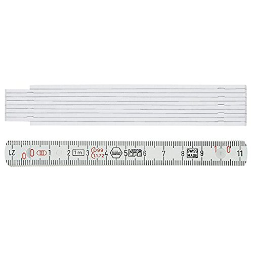 Wiha Longlife Gliedermaßstab, 1 m, metrisch, 10 Glieder (410 1000)