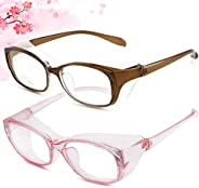 GOKEI 2Pack Anti Fog Safety Goggles Glasses,Anti Pollen,Blue Light Block glasses