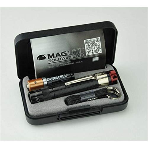 - Maglite, Solitaire Spectrum Series LED Flashlight, AAA, Black Body, Red LED Light