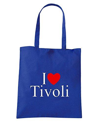 T-Shirtshock - Bolsa para la compra TLOVE0135 i love heart tivoli Azul Real