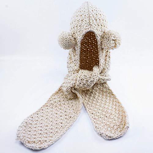 Hood Scarf Beanies Kids - Girls Winter Hats Ear Flaps Knit Cap Snow Neck Warmer by Liny (Image #4)