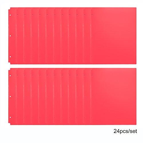 Comix Pocket Folder,2 Pocket Letter Size Poly File Portfolio Folder with 3-Hole Punch - 24 Pack (A2140) (Red) ()