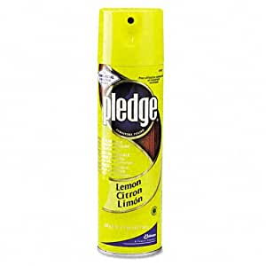 Pledge Furniture Products - Pledge Furniture - Furniture Polish, Lemon, 17.7 oz. Aerosol - Sold As 1 Each - Brings back the beauty. - Shines, polishes and dusts wood furniture, cabinets, paneling, vinyl and leather in one step. - Anti-dust™ formula. - Pleasant scent. -