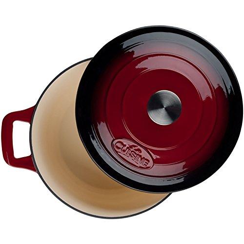 La Cuisine LC 2805 6 Piece Enameled Cast Iron Round Casserole/Trivet Cookware Set, Ruby by La Cuisine (Image #5)