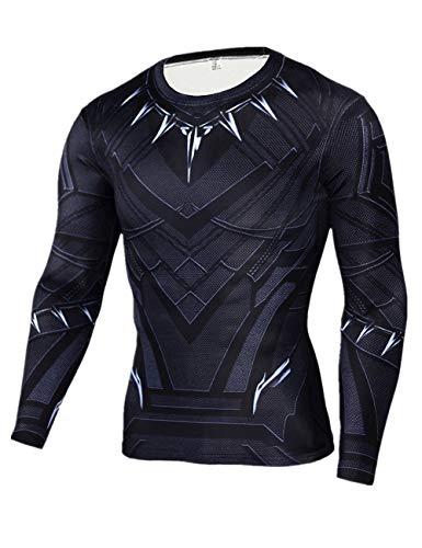Cool Superhero Masks - Cosfunmax Superhero Shirt Compression Sports Shirt