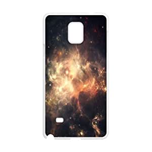 Samsung Galaxy Note 4 Case,Fierce Space Nebulae Hard Shell Back Case for White Samsung Galaxy Note 4 Okaycosama398295