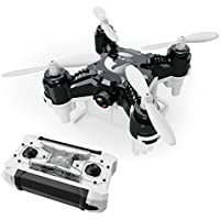 Pocket Drone 4CH 6Axis Gyro Quadcopter with Switchable Controller Helicopter Toys with 2.0MP HD Camera (black)