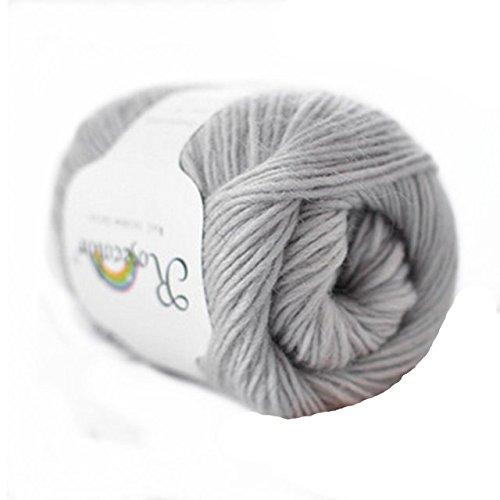 100% Wool Rainbow Series Hand knitting Yarn 50g,Grey ()
