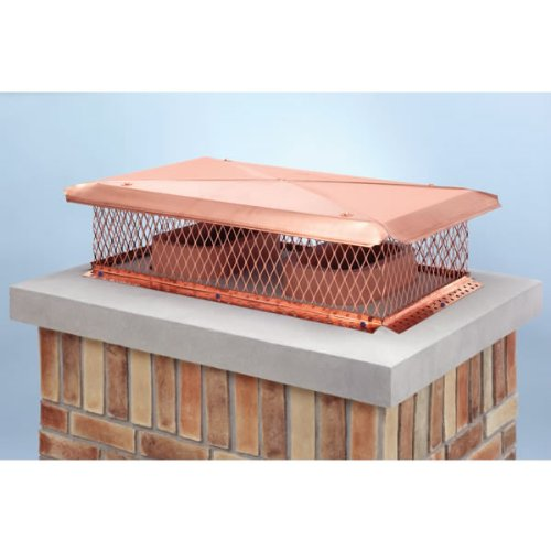 100371 D-Top Copper Gelco Chimney Cover