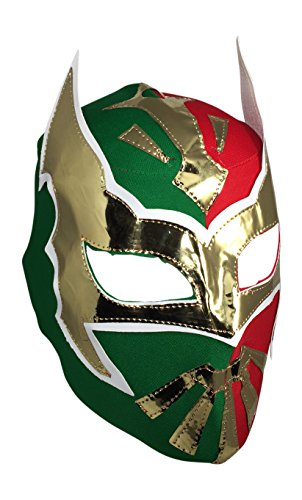 SIN CARA Youth Lucha Libre Wrestling Mask - KIDS Costume Wear - Red/Green