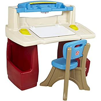 Amazon Com Step2 Deluxe Art Master Kids Desk Toys Amp Games