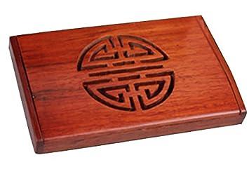 Amazon wood business card case holder arita high grade wood business card case holder arita high grade rosewood round card case business colourmoves