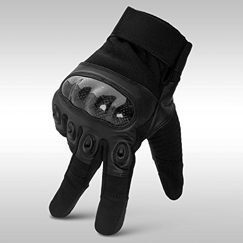 Men Genuine Leather Summer Motorcycle Gloves, Hard Kevlar Knuckle Motorbike Gloves Riding Racing Safety Gloves (XL)
