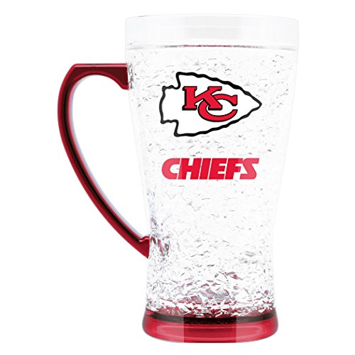NFL Kansas City Chiefs 16oz Crystal Freezer Flared Mug