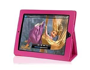Conseguir 808 Cuero Repujado Mat plegable bolsa de la cubierta del caso para Apple iPad 2 (rojo)