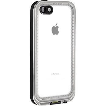 LifeProof FRE iPhone 5c Waterproof Case - Retail Packaging - BLACK/CLEAR