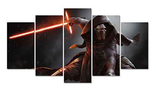 LMPTART(TM) 60x32inch print kylo ren in Star Wars Movie the force awakens printed poster picture for living room wall decor home decor wall art print oil Painting on canvas framed ready to hang wall
