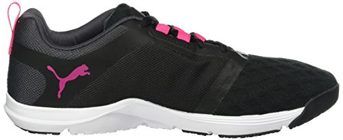 Puma Damen Pulse XT V2 Gold WNS Hallenschuhe Schwarz (Puma Black-Periscope-Sharp Green 03)