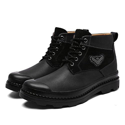 Scarpe Stivali Libero Autunno Uomini Scarpe Da Scarpe Pizzo Di Black E Scarpe Inverno Uomo Alte Tempo xIPxn1Bwq
