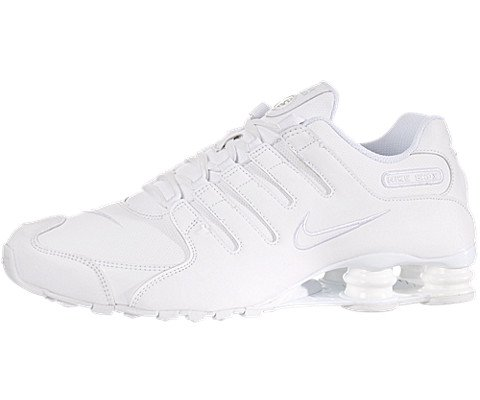 Nike Shox NZ Men US 9 White Running (Shox R4 Mesh)