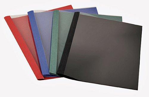 100 Thermobindemappen, Leinen farbig, 1.5 mm - schwarz FALAMBI / BestPreisArtikel