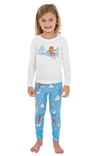 PajamaGram Flannel Gingerbread Fun Matching Family Pajama Set, 2T, Multicoloured