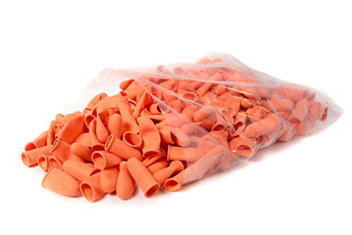 Bertech Heavy Duty Industrial Grade Finger Cots, Orange Color, 14 Mil Thick, Medium, (Pack of 300)