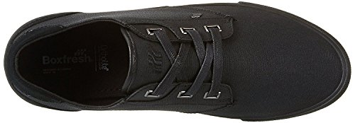 Boxfresh Stern Negro Waxed Lona Hombres Zapatos