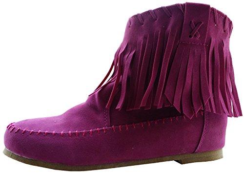 Boot Flat Tassel Women's Fashciaga Rose nAS1w66q