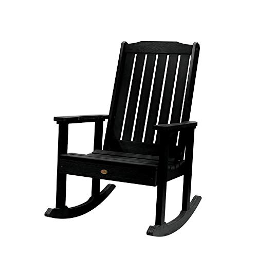 Highwood AD-RKCH1-BKE Lehigh Rocking Chair, Black