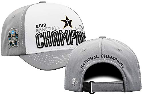 Elite Fan Shop Vanderbilt Commodores Baseball College World Series Champs Hat CWS 2019 Locker Room - Adjustable - White