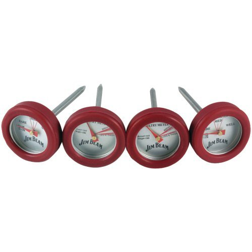 Jim Beam JB0134 Poultry and Steak Mini Thermometers, 4-Pack - 4 Poultry