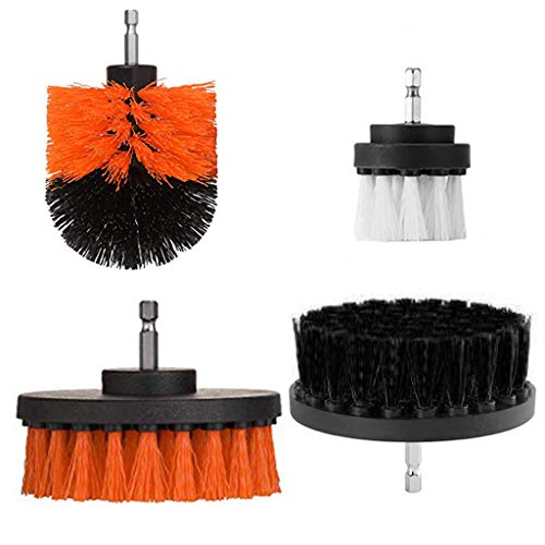 KAKALOR Drill Brush Drill Brush Scrub Brush Drill Drill Powered Cleaning Brush Attachments -4 Piece Great for Cleaning Pool Tile, Flooring