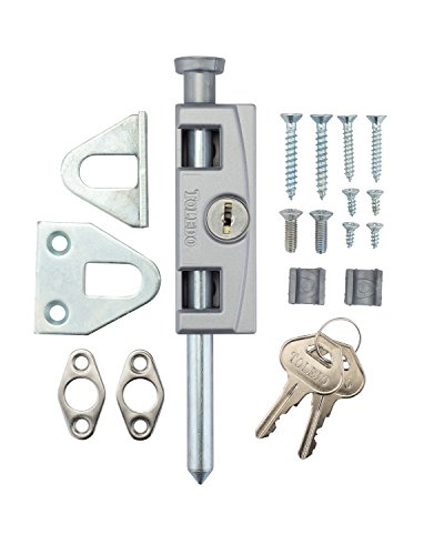 TOLEDO Sliding Door Patio Lock TDP02S Silver Finish - Works With Aluminum, Steel, Wood Or PVC Swinging Or Sliding Doors by Toledo & Co. (Image #1)