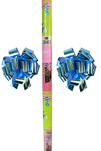 Mickey Mouse New Disney Doc McStuffins Graphics Wrapping Paper & 2 Sky Blue Bows]()