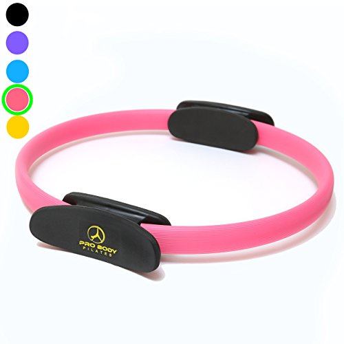 Pilates Ring – Superior Unbreakable Fitness Magic Circle for Toning Thighs, Abs and Legs (Pink)