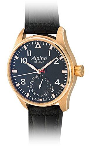 "Alpina 18K Solid Rose Gold ""Startimer"" Big Pilot Manufacture Movement. Ltd Ed."