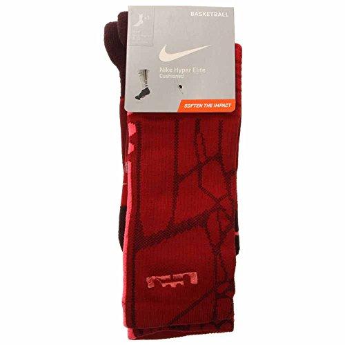 4a8fa59732df Nike Lebron Hyper Elite Basketball Crew Socks Gym Red Infrared ...