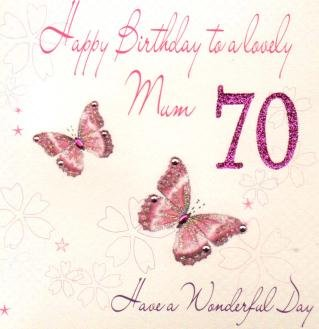 Mum 70th Birthday Handmade Card