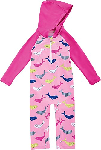 Coolibar UPF 50+ Baby Hooded One Piece Swimsuit - Sun Protective